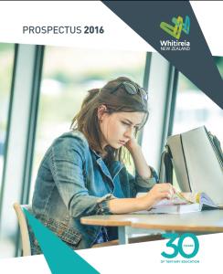 2015 09 Whitireia Prospectus 2016 thumbnail